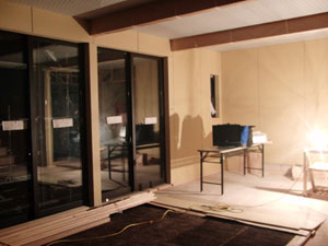 漆喰仕上げ前の室内